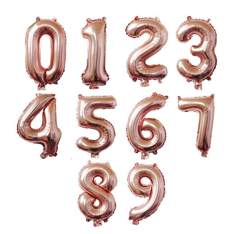 16/32/40 cali cyfrowa folia balony urodzinowe Air Helium balon w kształcie cyfry figurki dekoracje na przyjęcia urodzinowe zabawka dla dzieci balon