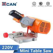 XCAN 220V Table Cutting Machine 45 Degrees Mini Bench Saw For cutting Metal Wood Plastic Cut-off Miter Saw