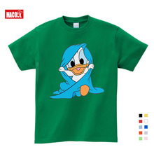 Lovely Summer Short Sleeve T Shirts Donald Duck Mickey Mouse Cartoon Children Clothing Sport T-shirt  Kids Dresses for Girls 7T donald weis t t solo rules