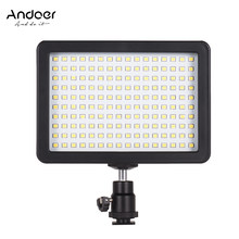 Andoer 160LED 5600K Photography Light with Bright Camera Lamp 3 Filter for Video for Canon Nikon Pentax Sony Olympus DSLR Camera(China)