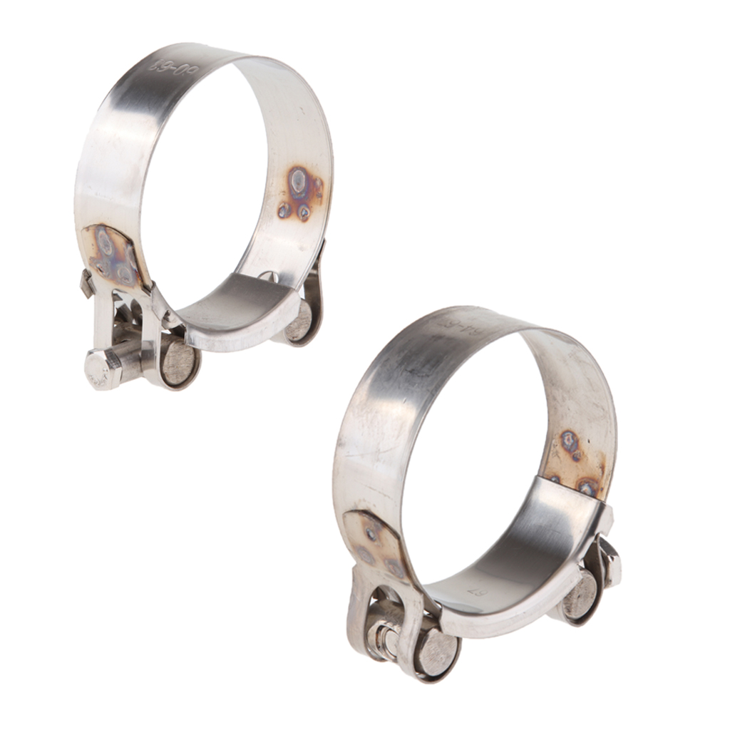 Motorcycle Stainless Steel Exhaust Band Clamp for Exhaust Pipe 60-63mm