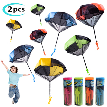 2pcs Hand Throw Soldier Parachute Toys Indoor Outdoor Games for Kids Mini Soldier Parachute Fun Sports Educational Toy Gifts Boy