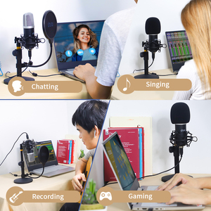 Image 5 - UHURU UM910 USB Microphone 192 kHz/24Bit Condenser Podcast Mikfofon Plug&Play Computer Mic for Gaming Youtube Vocal Recording