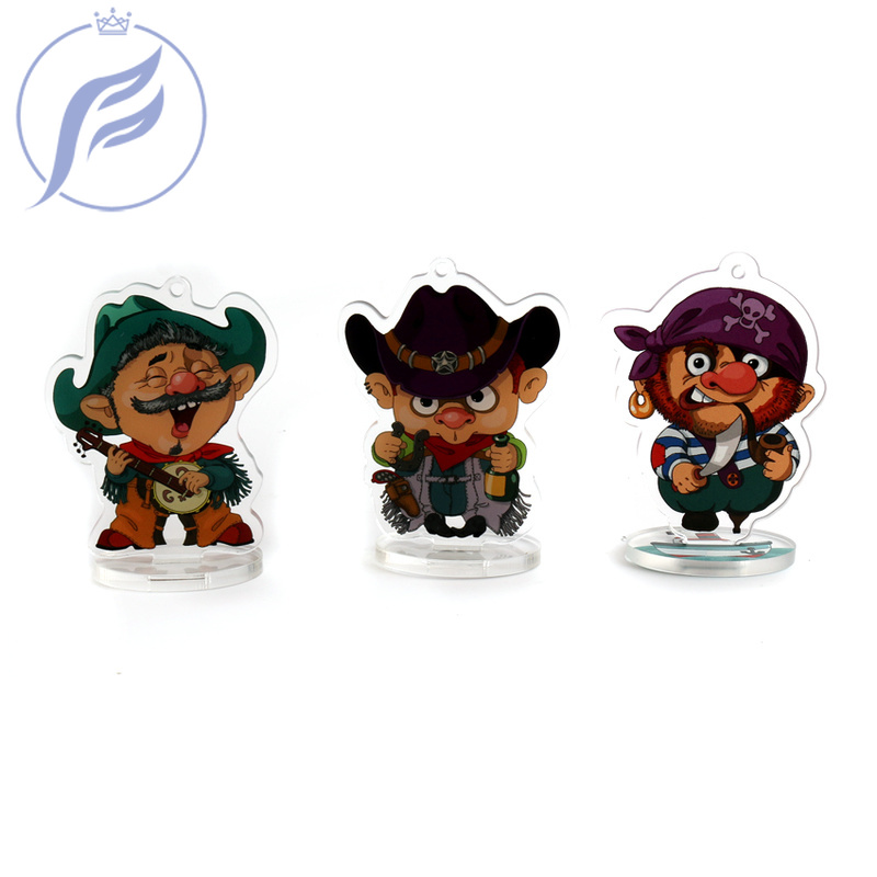 FANGQINGMAO  7cm Souvenir Custom Transparent Clear Plastic  Custom Acrylic Stand for Model Display