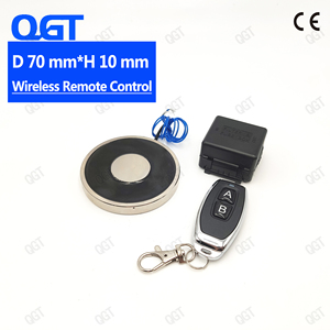 KK-70/10 DC The wireless remote control electro magnet Electromagnet cylinder magnets custom electric magnet suck(China)