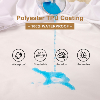 Solid Color Waterproof Mattress Cover 2