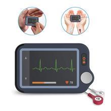 ЭКГ/ЭКГ монитор сердца для аритмии Afib 30 s-5 мин Измерение Поддержка Leadwire Bluetooth бесплатное приложение ПК отчет, Wellue Pulsebit EX