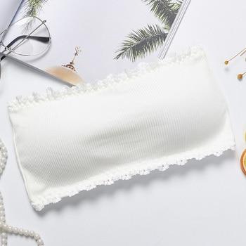 Ropa interior transpirable de nailon para estudiantes para mujer Lencería antideslizante sujetador tubo firme Top elástico sin tirantes Sexy recogido