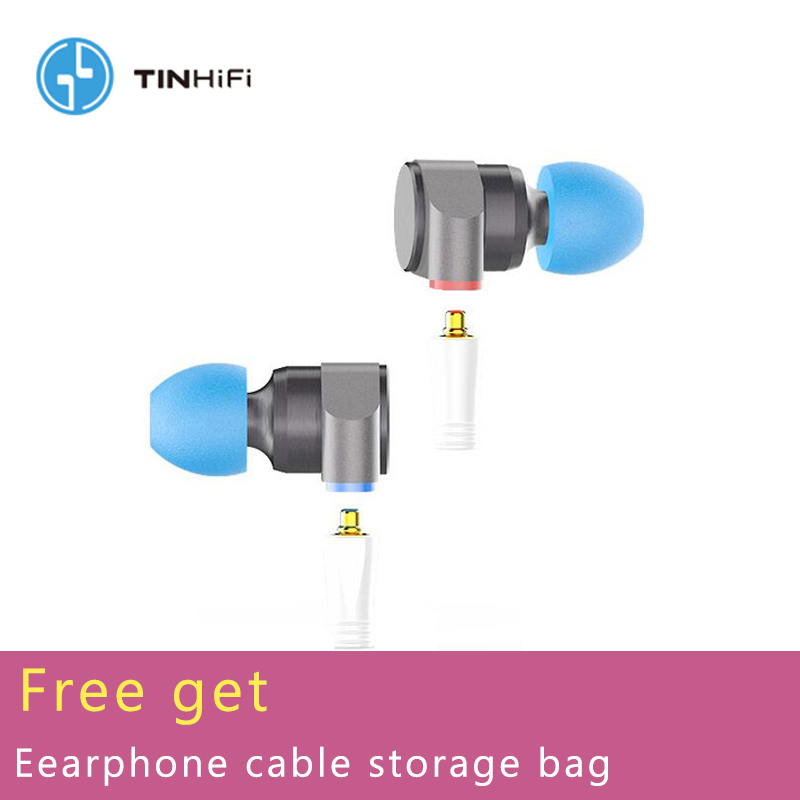 TINHiFi Tin Audio T2 Dual Driver Metal Earphones HiFi Wired Headset Dynamic Bass MP3 Music DJ Earbuds Mmcx Replaceable Cable