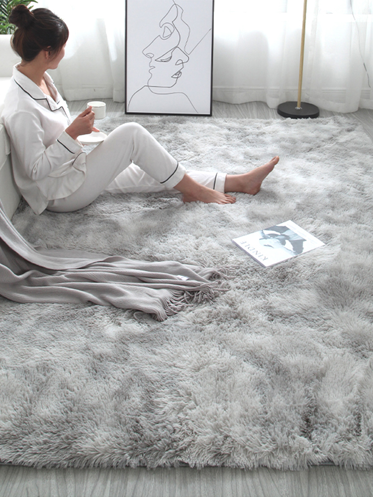 Fluffy Large Carpet For Living Room Bedroom Faux Fur Round Rug Kids Room Long Plush Rugs Thicker Shaggy Area Rugs Non-slip Mat