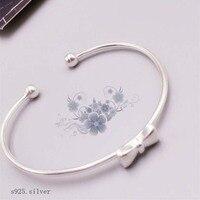 s925 sterling silver female bracelet opening adjustable bracelet accessories