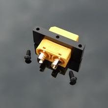 10PCS Metal XT60 XT90 Bracket Black Plug Fixture Fixed Seat Holder Clip Clamp Accessories for RC Aircraft Drone
