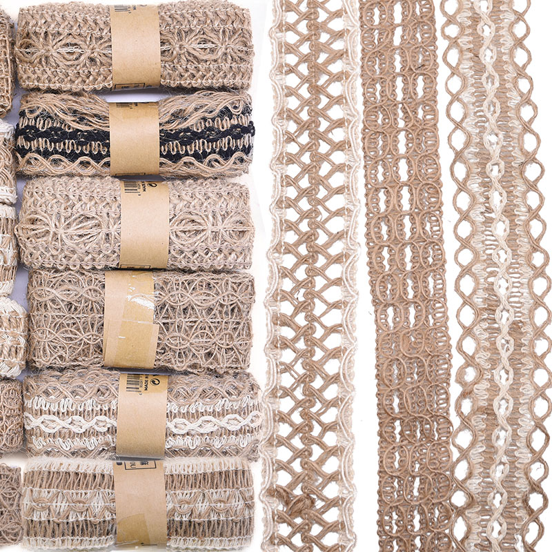 Woven Hessian Ribbon Braid jute tape burlap rope Rustic Trim 5mm-12mm BY METRE