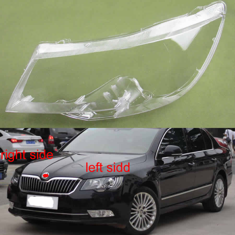 For Skoda Superb 2013 2014 2015 Headlamp Lamp Cover Lens Glass Lamp Shell Headlight Cover Transparent Lampshade