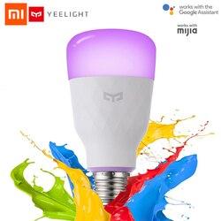 Xiaomi yeelight inteligentne żarówki led kolorowe 800 lumenów 10W E27 Lemon inteligentna lampa dla mi aplikacja domowa biały/RGB opcja [angielska wersja] w Inteligentny pilot zdalnego sterowania od Elektronika użytkowa na