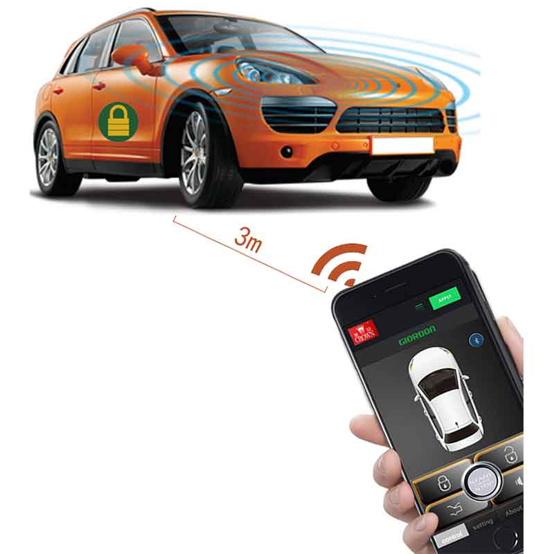 Auto Products Car Alarm Automatic Trunk Opening Car Sticker Remote Central Locking Autostart Car Security Central Lock APP Open