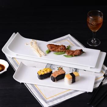 White Ceramic Plates Food Dishes Hotel Bar Art Design Steak Plates Dinnerware Accessories фото
