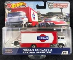 Hot Wheels Car NISSAN FAIRLADY Z SAKURA SPRINTER Car Culture Team Transport Real Riders Metal Diecast Model Car