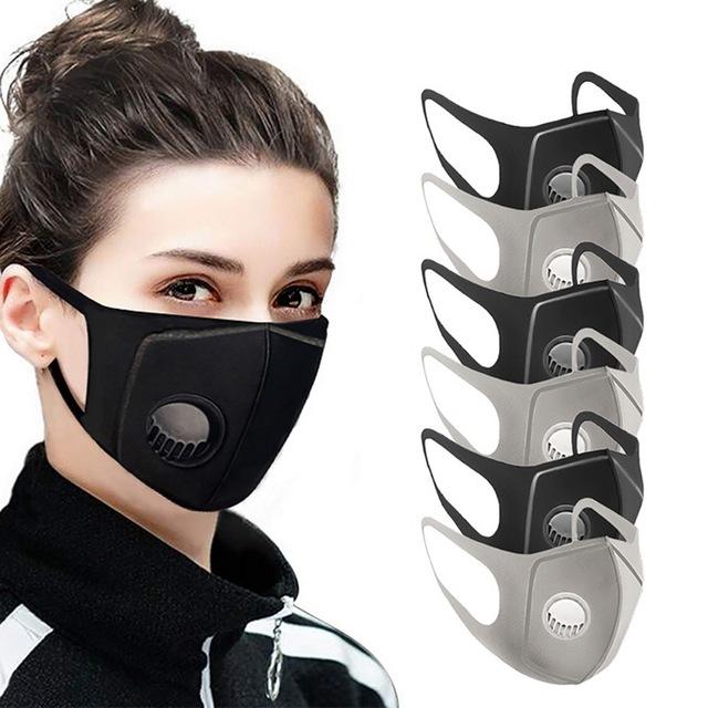 Mask Reusable 6 Pcs Sponge Protect Breathing Valve Filter Prevent virus