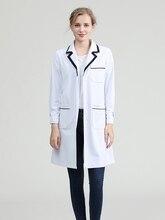 Косметолог рабочая одежда высокая-конец корейский стиль мода медсестра длинный рукав женский оральный управления ногтя кожи