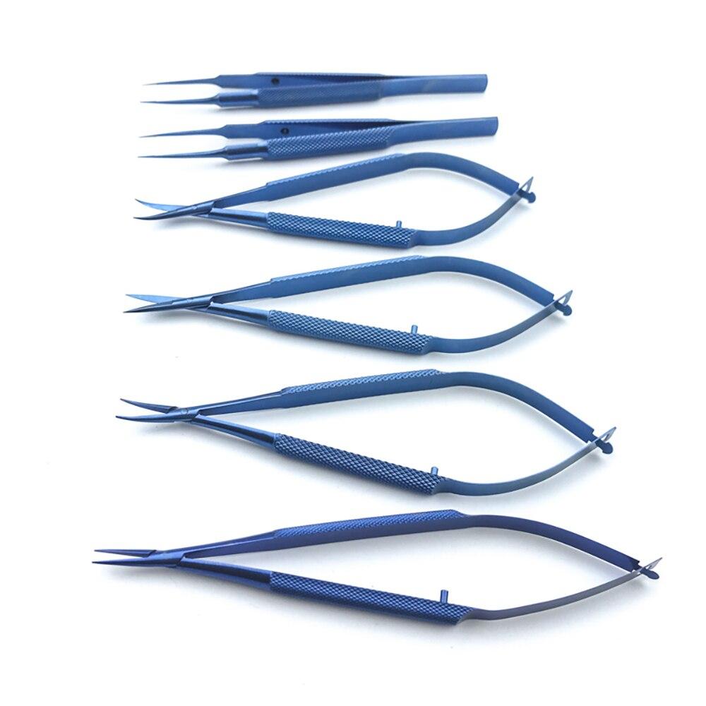 12.5CM Titanium Ophthalmic Microsurgical Instruments Scissors/Needle Holders /tweezers Surgical Tool