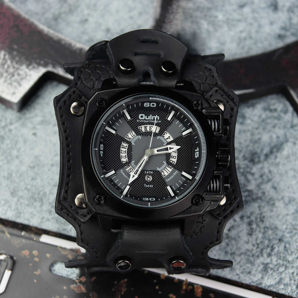 2020 izle erkekler Steampunk Vintage çok fonksiyonlu klasik İzle paslanmaz çelik deri kayış spor mekanik askeri kol saati
