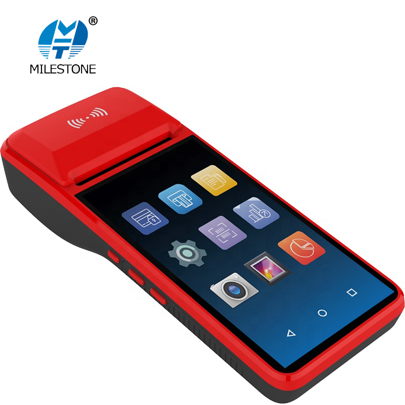 POS SystemTerminal Android PDA Phone With Wifi 4G Thermal Bluetooth Printer 58mm 1D 2D QR  Barcode Reader Free App Loyverse M2