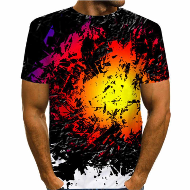 Lustige Psychedelic 3D Drucken T Shirts Hipster Casual Kurzarm T Hemd Männer Frauen Harajuku Streetwear T-shirt Männer Camiseta Hombre