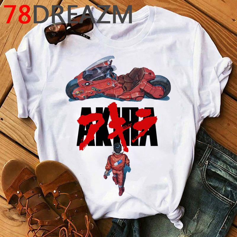 Akira Japanese Anime T Shirt Men Harajuku Hip Hop Funny Tshirt Neo-tokoyo Kawaii Cartoon T-shirt 90s Graphic Tops Tees Male
