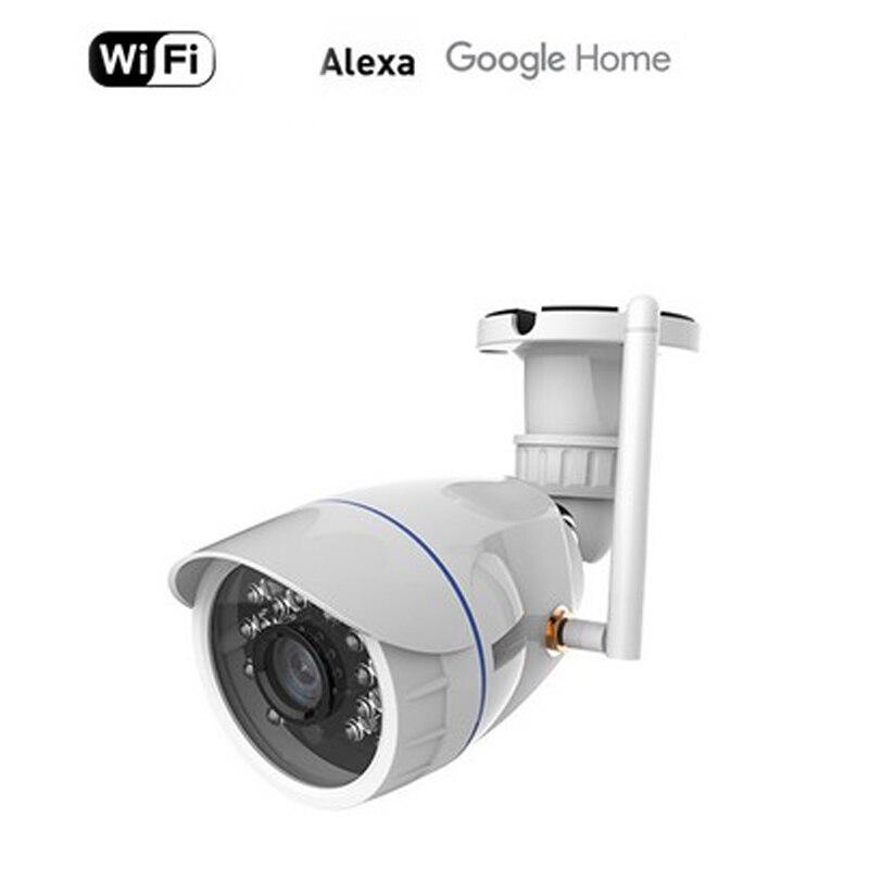 NEO COOLCAM impermeable al aire libre WiFi IP cámara inalámbrica HD 720P Red de visión nocturna CCTV cámara de trabajo con Alexa Echo Show NEO COOLCAM Z-wave Plus a casa una clave SOS y de Control remoto inteligente Sensor de automatización de Sensor