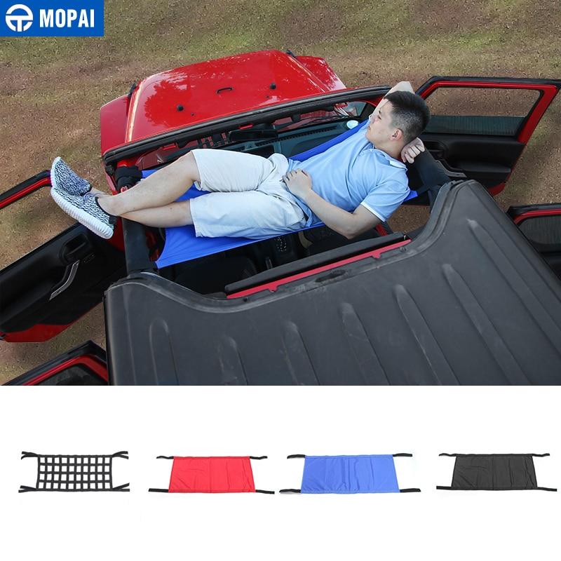 MOPAI Car Roof Waterproof Hammock Car Bed Rest Top Cover Car Accessories For Jeep Wrangler JK YJ TJ JK JKU 1987-2018 Car Styling