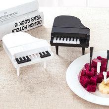 Фрукты Вилка Набор ABS десерт фортепиано форма 9 шт. белый/черный домашний гаджет для выпечки Аксессуары декор