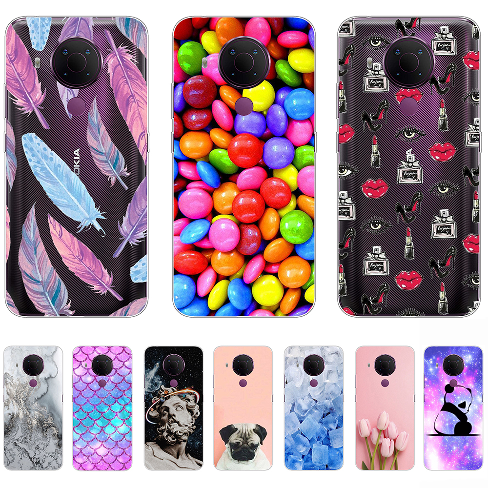 Case For Nokia 5.4 Transparent Silicon Shell Phone Back Cover 6.39Inch Shockproof Funda Coque Etui Bumper TA 1333 TA 1340