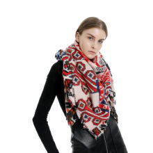 women scarf Phshmina Cashmere oversize Squar Women Scarf Blanket and Shawls winter cashmere Scarves Flower Printer