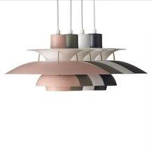 Современный подвесной светильник в скандинавском стиле, разноцветный зонтик, светодиодный подвесной светильник для столовой, светодиодный подвесной светильник, светильник для внутреннего освещения