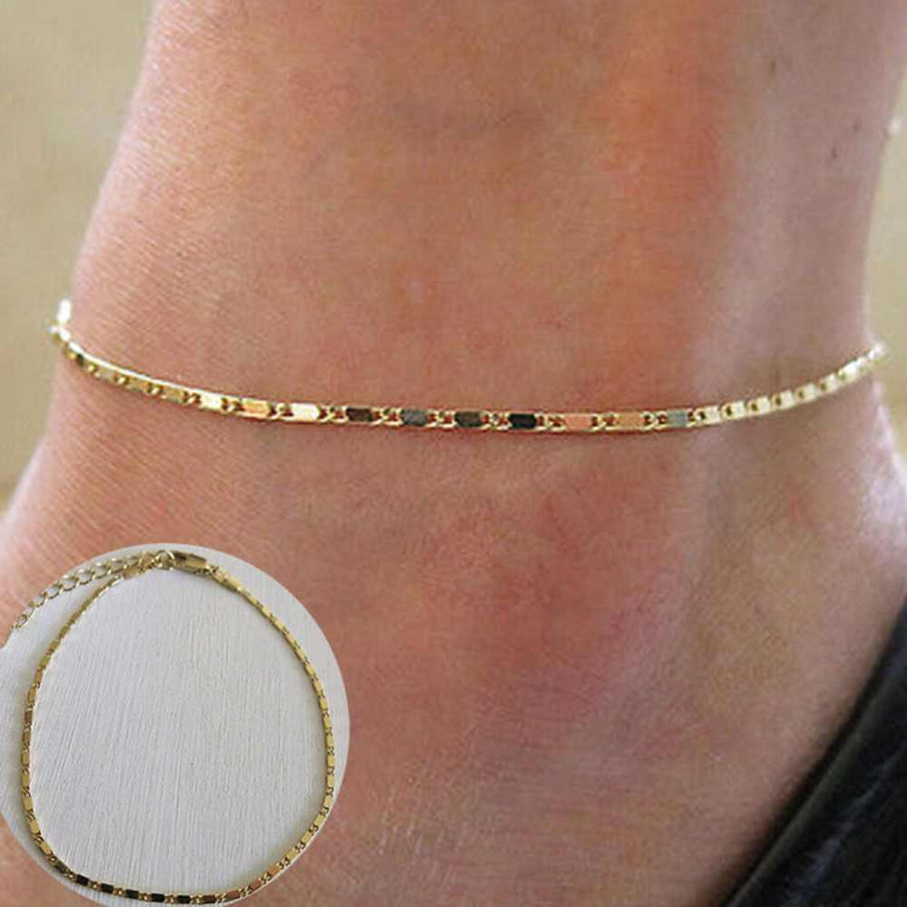 1 قطعة مثير الذهب الأفعى الكاحل سلسلة المرأة سوار كاحل (خلخال) بيرفوت القدم مجوهرات الأزياء الشاطئ الاكسسوارات أسلوب بسيط