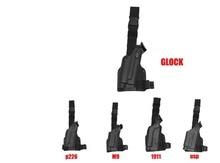Tactical Gun Holster Safariland Combat Glock 17 1911 Beretta M92 M9 P226 USP Adjustable Airsoft Pistol Drop Leg blac