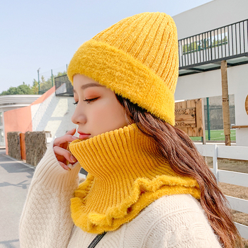 Winter knitted Beanies Hats Women Thick Warm Beanie Skullies Hat Female knit Letter Bonnet Beanie Caps Outdoor Riding Sets spring autumn hat for women skullies beanies women fashion warm cap unisex elasticity knit beanie hats gorros female lace caps