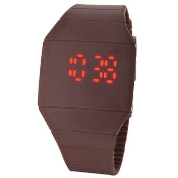 Moda plastikowe zegarki elektroniczne Led cyfrowy ekran dotykowy zegarki ultra cienkie zegarki mężczyźni kobiety sport zegarki zegarki dla dzieci tanie i dobre opinie WoMaGe 24cm Moda casual Z tworzywa sztucznego Klamra Nie wodoodporne Plac 21mm led touch watch 166888 Nie pakiet 40mm