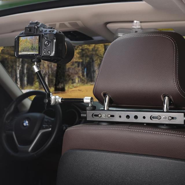 """11"""" Adjustable Articulating Friction Magic Arm Super Clamp Holder Mount Kit Aluminum Video Vlog DSLR Camera w/Hot Shoe Adapter"""