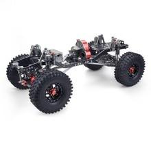 Aluminium En Carbon Chassis Frame Met 4 Velgen Tyre Voor Rc Auto 1/10 Axiale SCX10 Chassis 313Mm wielbasis Crawler Auto