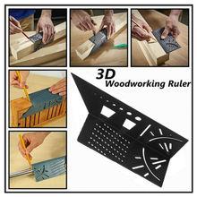 Multi-Funktion Holzbearbeitung 3D Glasritzrades Herrscher T-typ Herrscher Winkel Messen Werkzeuge Linie 90 Grad Messer Lineal Loch ritzen Gauge
