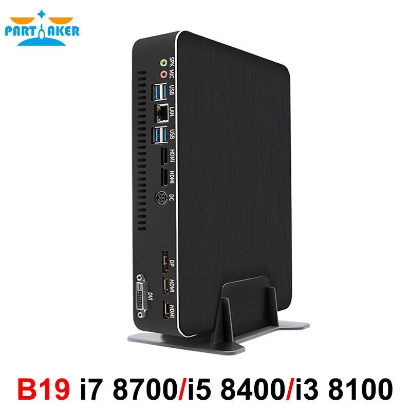 Hot Gaming Computer Intel Core I7 8700 I5 8400 I3 8100 Nvidia GTX 1050TI 4GB Mini PC 2*DDR4 2*HDMI 2.0 1*DP 1*DVI