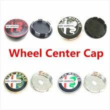 4 шт. 50 мм 56 мм 60 мм Alfa Romeo, Центральная втулка колеса автомобиля, колпачки для значка крышки колесных дисков, логотип HubCaps, эмблема, пыленепрон...