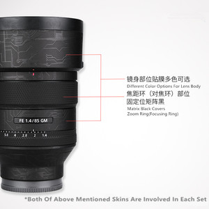 Image 1 - Anti scratch Lens Skin Cover For Sony FE 85mm 1.4GM Wrap Film Protector Case