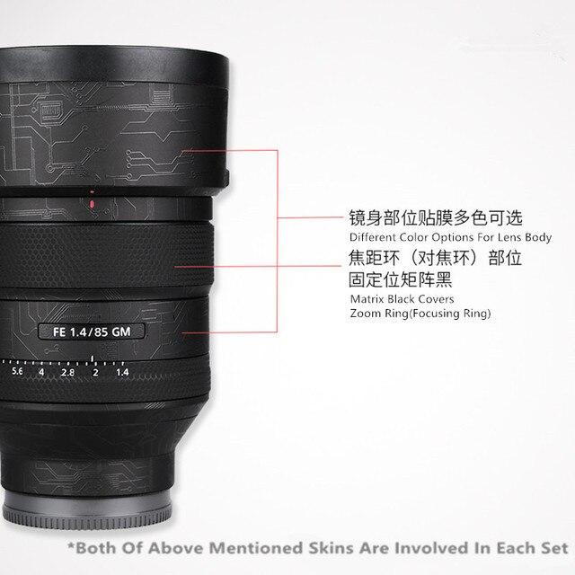 Funda protectora de película para Sony FE 85mm 1.4GM, antiarañazos