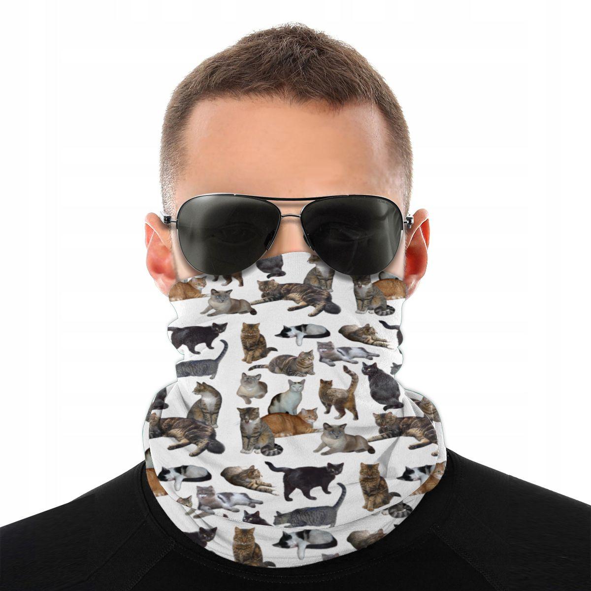 猫の恋人のスカーフハーフマスクファッションネックゲートル動物バラクラババンダナ多機能ヘッドバンドサイクリングハイキング