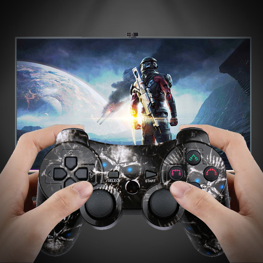 K ISHAKO For Sony Playstation3 For PS3 Controller Wireless Bluetooth Gamepad Joystick pc universal game controller for ps3 in Gamepads from Consumer Electronics