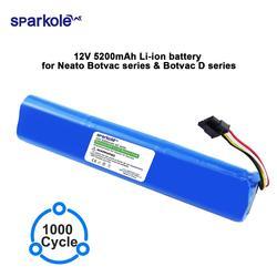 Sparkole 12V 5200mAh Li-Ion batteria di ricambio per Neato BotVac 70e 75 80 85 D75 D85 Aspirapolvere per neato Botvac D serie