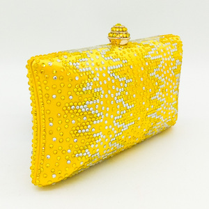 Image 3 - Boutique De Fgg Elegante Gele Kristallen Dames Clutch Bag Vrouwen Avond Party Wedding Portemonnees En Handtassen Bruids Diamanten Tas